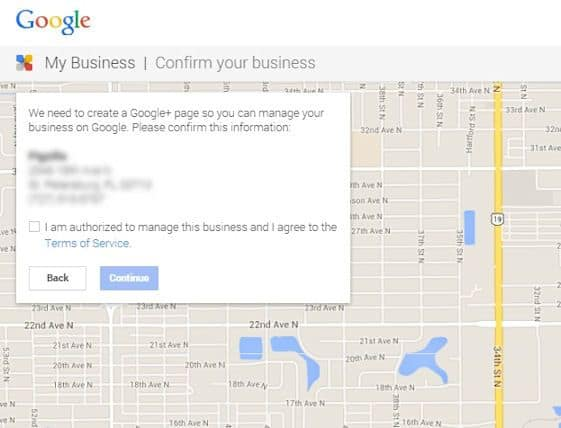 set up google my business page