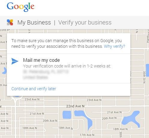 verify google my business by post card